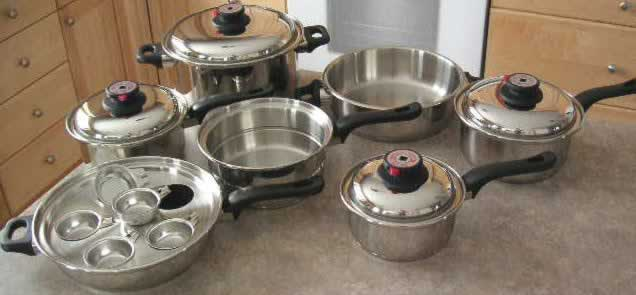 7-ply 17 piece waterless cookware set