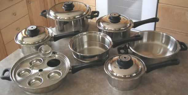 5-ply 17 piece waterless cookware set